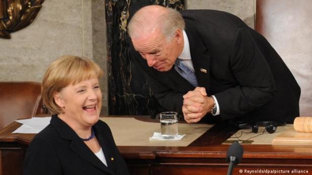 USA Washington | Gesprächspartner | Merkel und Biden (Reynolds/dpa/picture alliance )