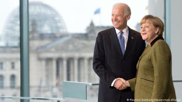 Deutschland Berlin | Kanzleramt | Merkel und Biden (Maurizio Gambarini/dpa/picture alliance)