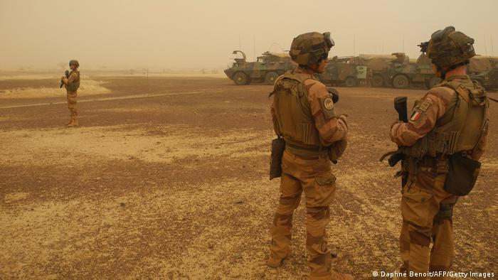French soldiers during an operation in Mali