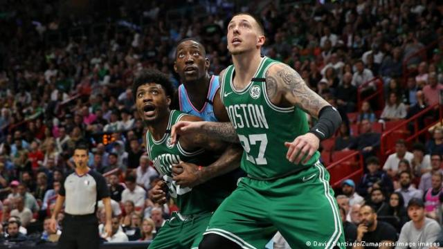 Daniel Theis of the Boston Celtics