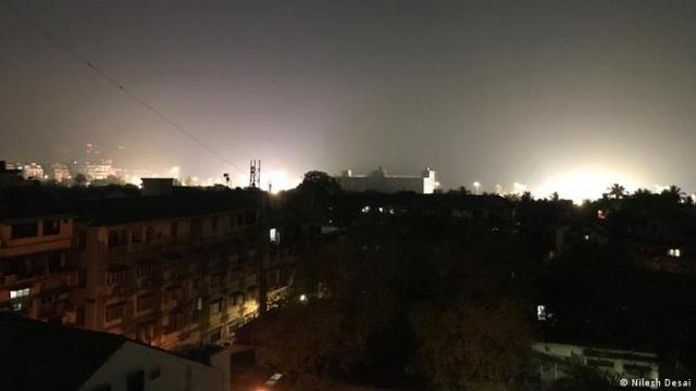 Light pollution over Mumbai, India
