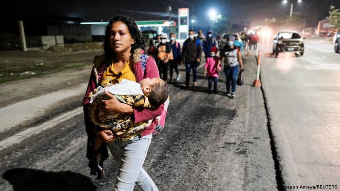 Migrantes en San Pedro Sula