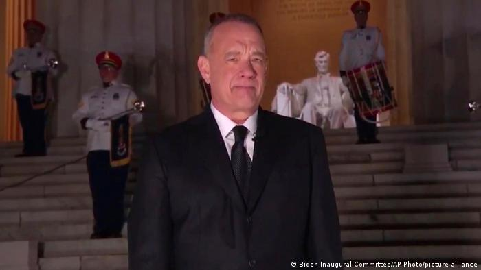 Tom Hanks at the Lincoln Memorial