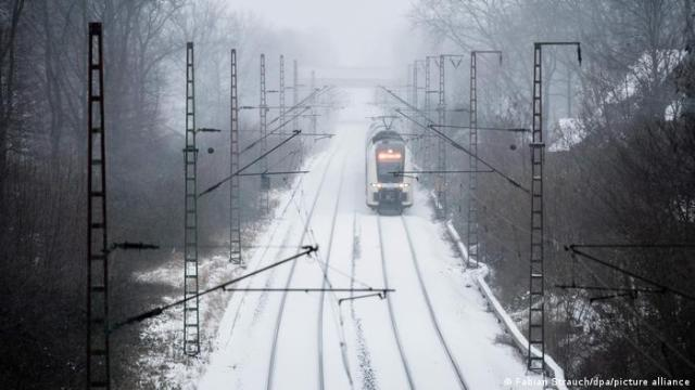A regional train heds in the direction of Koblenz, in North Rhine-Westphalia