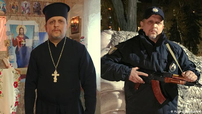 Настоятель храму ПЦУ у Бахмуті Сергій працює також поліцейським