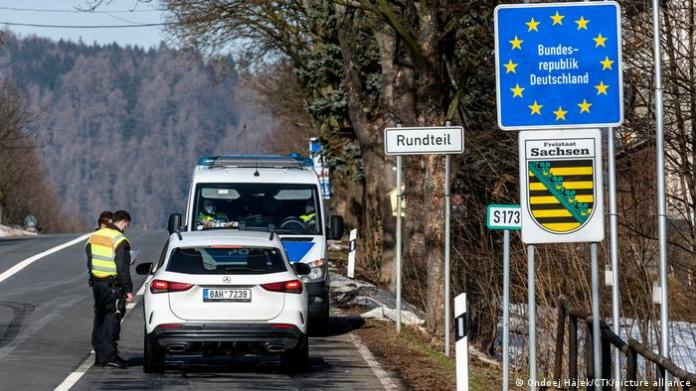 Czech Republic Petrovice |  Police control at the border when entering Germany