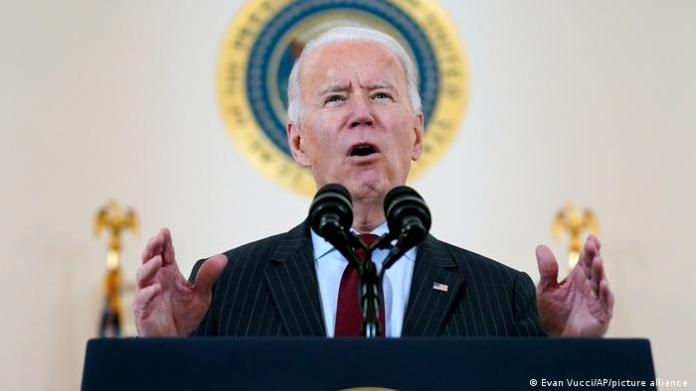 President Joe Biden speaks at the White House on Monday