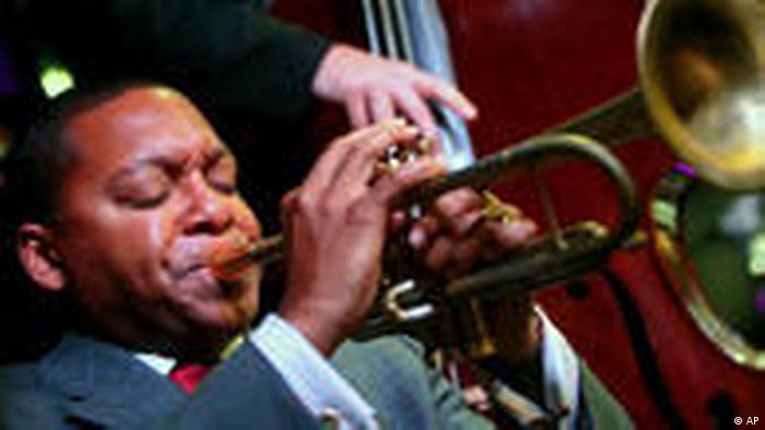 Wynton Marsalis playing the trumpet (AP)