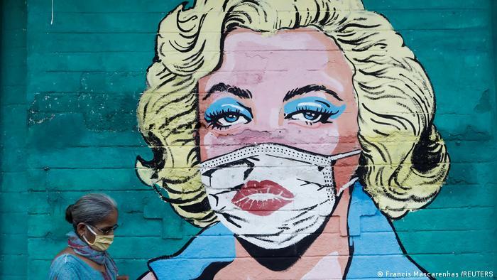 Weltspiegel 31.03.2021   Indien   Marilyn Monroe Covid Graffiti in Mumbai