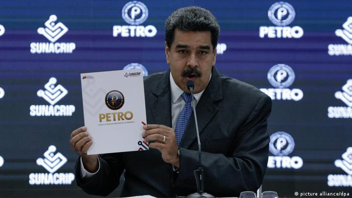 Venezuelan president is holding up the so-called white paper for the launch of the Petro cryptocurrency in 2018