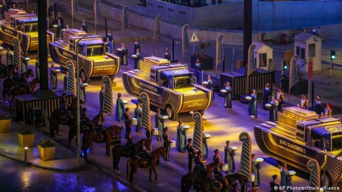 Parade of mummies of Egyptian pharaohs