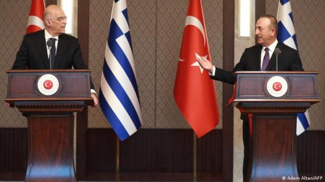 Yunanistan Dışişleri Bakanı Nikos Dendias ve Türk mevkidaşı Mevlüt Çavuşoğlu