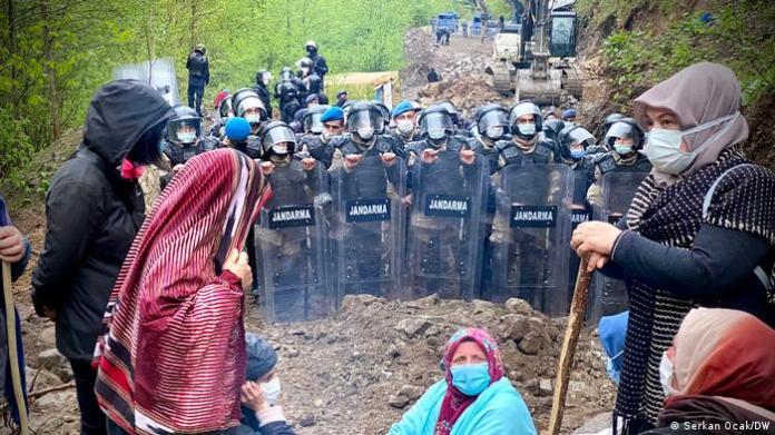 Türkei Ikizdere Rize | Protest gegen Bergbau- Konzern Cengiz Insaat