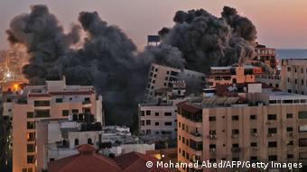 Gaza Luftangriff auf Hamas Hamadi Gebäude