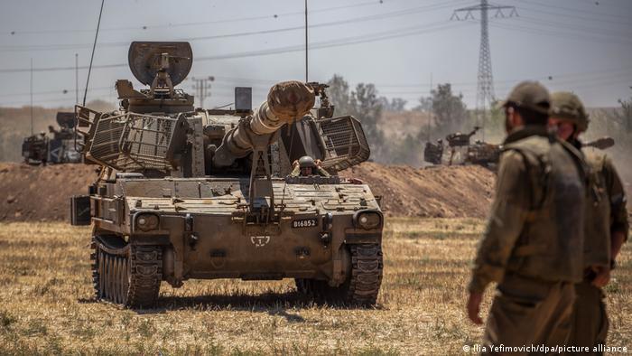 Soldados israelíes en Gaza.