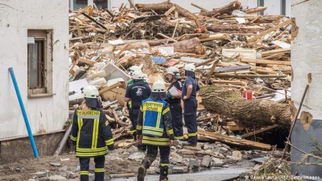 Deutschland Unwetterkatastrophe |Bad Neuenahr-Ahrweiler in Rheinland-Pfalz