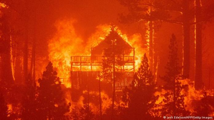 Fires burning homes in California
