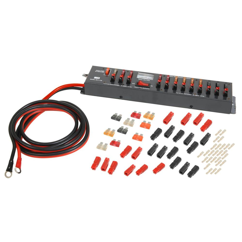 medium resolution of mfj dc multiple outlet panels mfj 1128 free shipping on most orders over 99 at dx engineering
