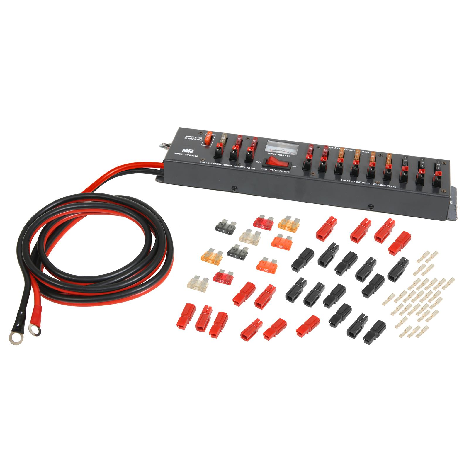 hight resolution of mfj dc multiple outlet panels mfj 1128 free shipping on most orders over 99 at dx engineering