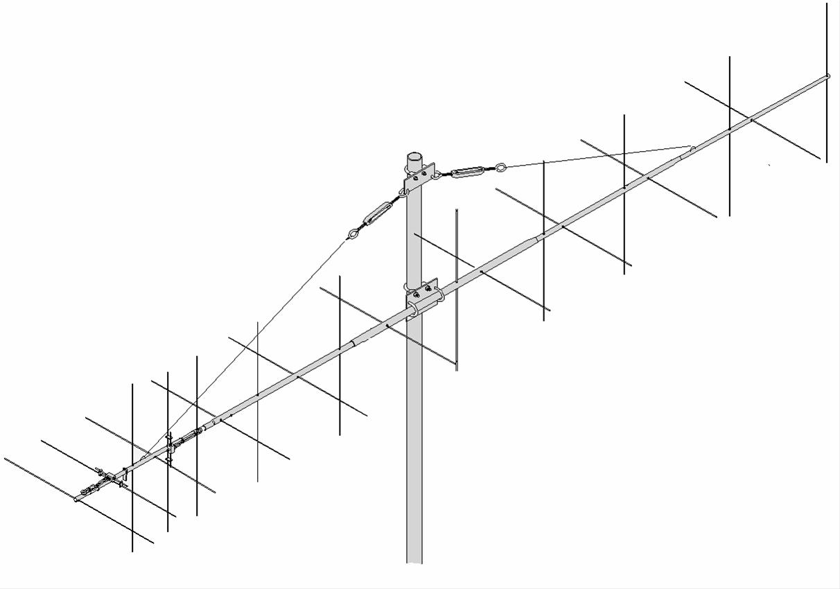 M2 Antennas 2MXP20 2 Meter Dual Polarity Beams 2MXP20
