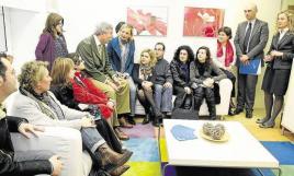 Visita de los alumnos de la Escuela de Práctica Jurídica al Servicio de Mediación Familiar del Centro de Familia de Santander. /DM .