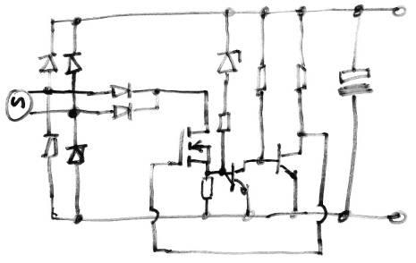 Latching Switch Circuit TTL Schmitt Inverter Circuit