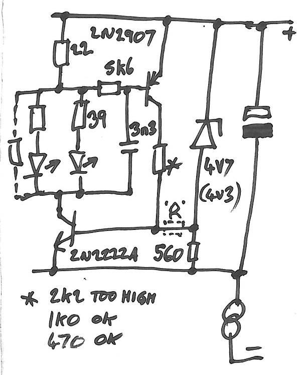 LED flasher circuit