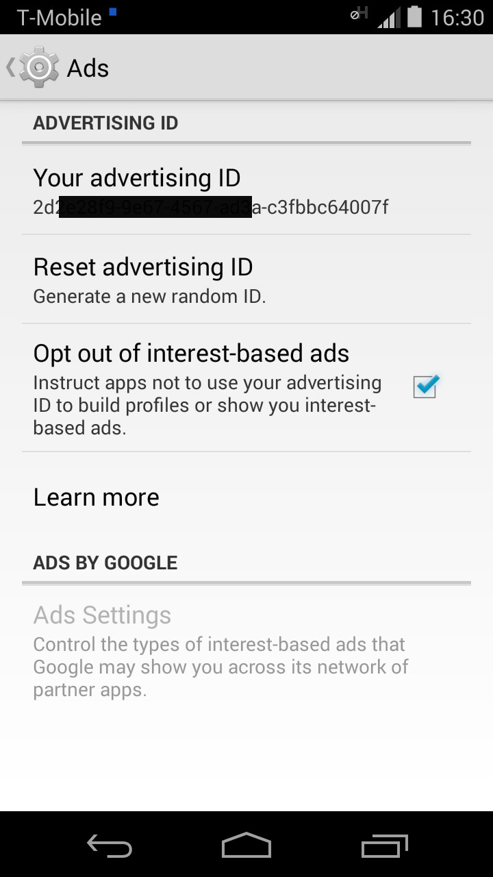android advertising id information