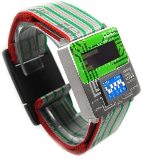 Click Dip Switch Turn Switch Circuit Board Style Watches Watch