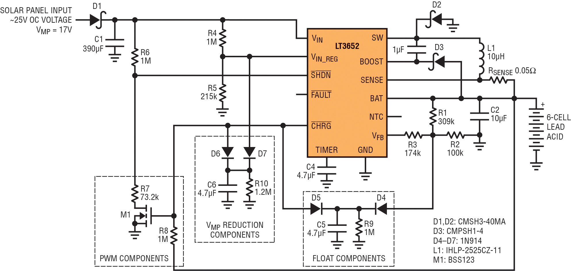 hight resolution of 17v vmp panel to 6 cell 2a lead acid charger with low current vmp