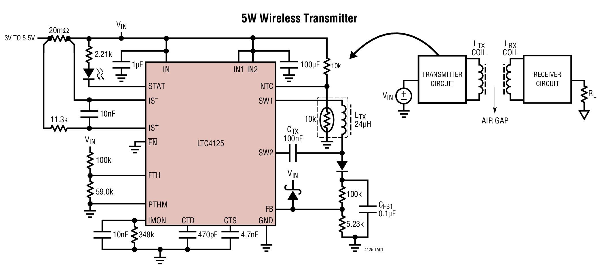 LTC Adds Wireless Power Transmitter