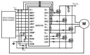 600V three-phase motor driver works from 3.3V logic