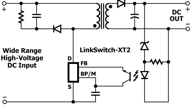 8W off-line switcher up-rated for 480V three-phase