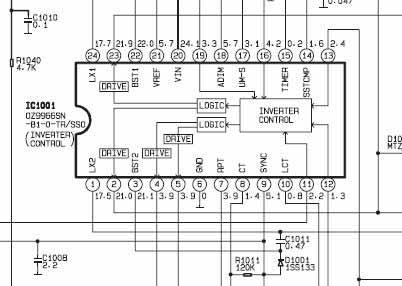 LCD Toshiba 32A3000P załącza podświetlenie po kilku próbach