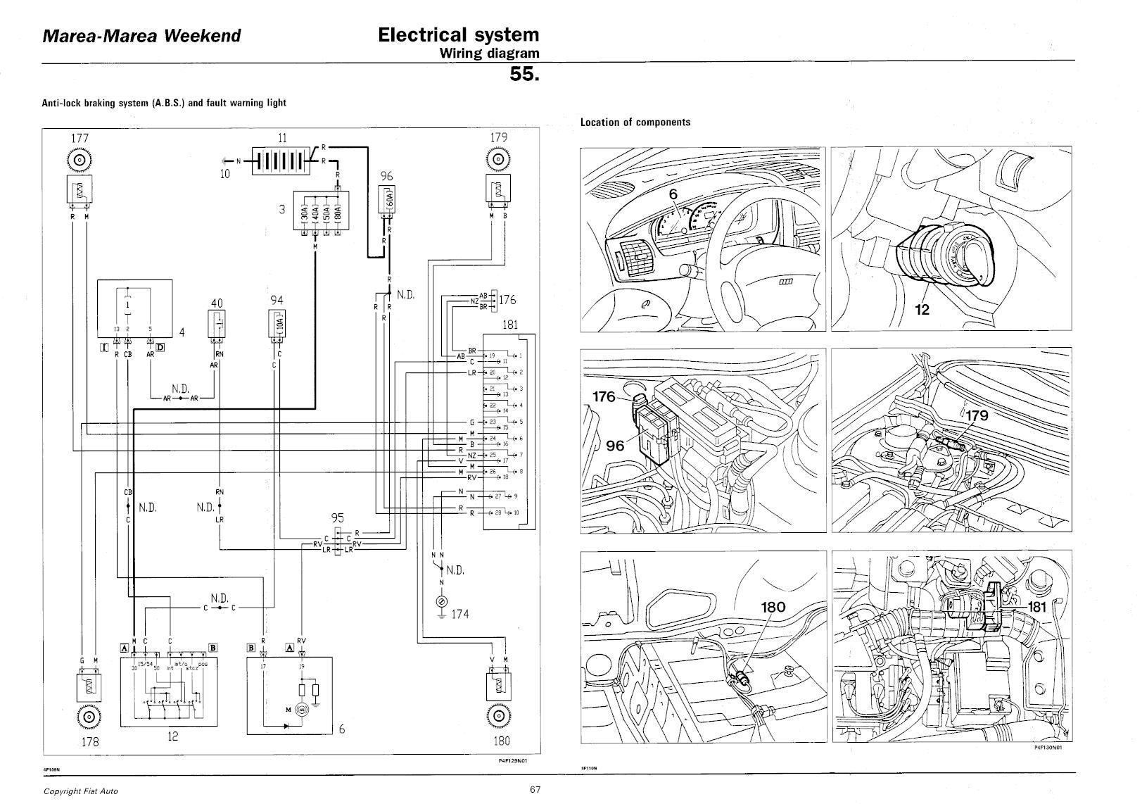 Poszukuję schematu układu ABS w Fiat Marea 1.8 16v