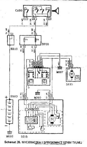 tylna wycieraczka peugeot 306  elektrodapl