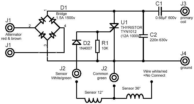 moduł elektroniczny (tyrystor,schemat), problem