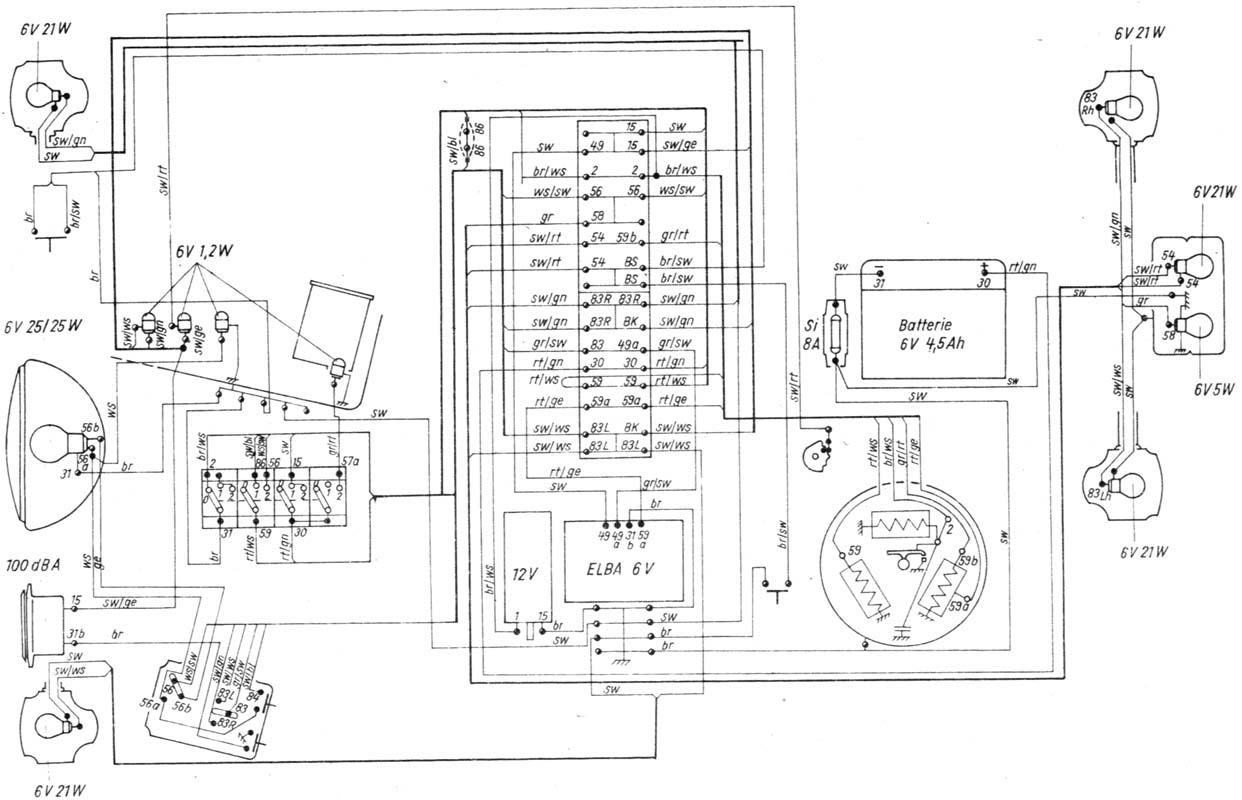 Simson S51 Electronic 1991 rok-instalacja elektryczna
