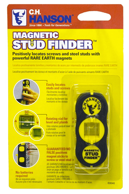👍 CH Hanson 03040 Magnetic Stud Finder