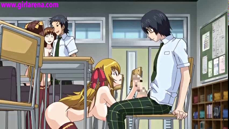 Hentai under desk during class  Porn pictures