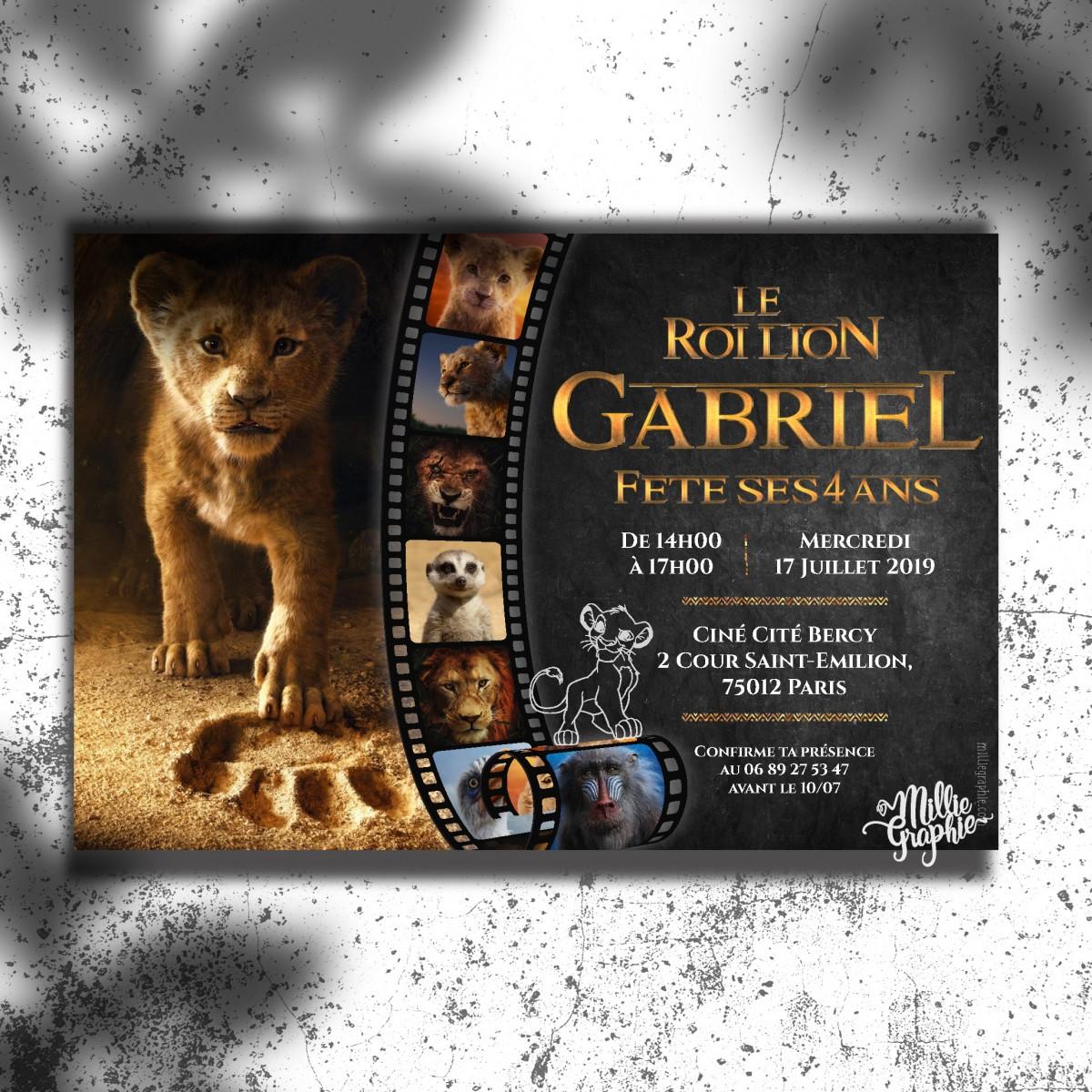 invitation anniversaire roi lion 2019 invitation bapteme roi lion
