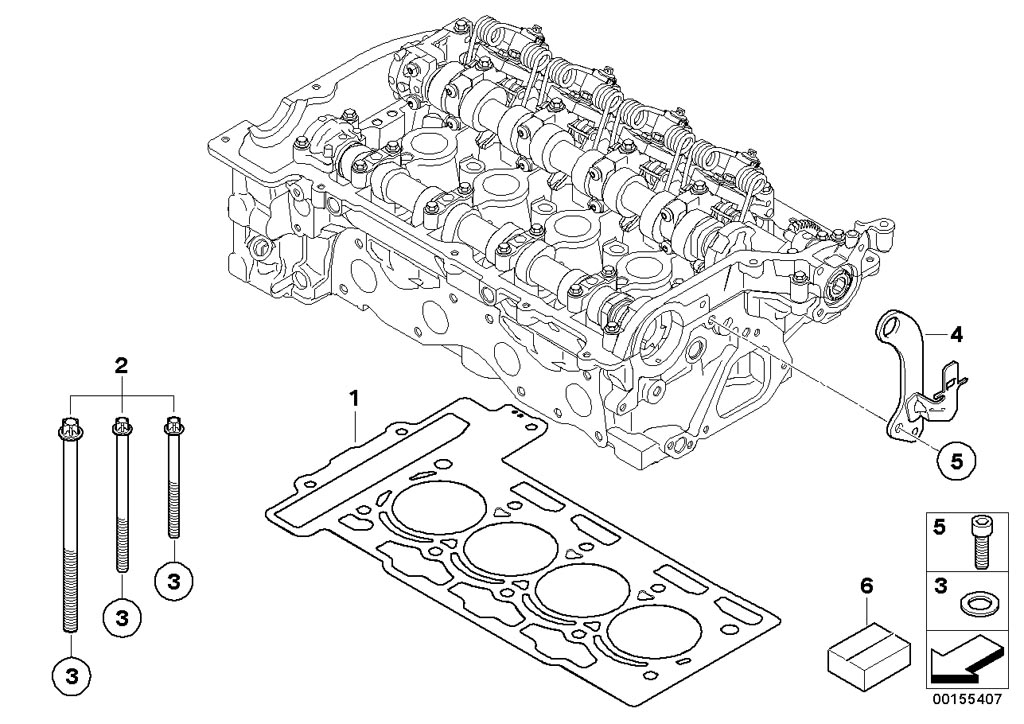 MINI R57/Convertible/Cooper/USA/Engine/Cylinder Head Cover