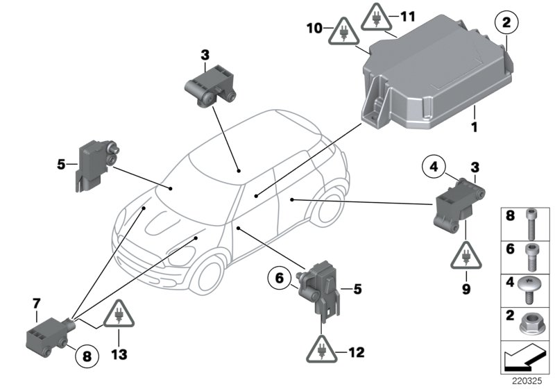 electric parts for airbag 00220325?resize\\\=665%2C466 motion sensor wiring diagram & fascinating motion light wiring cooper occupancy sensor wiring diagram at crackthecode.co