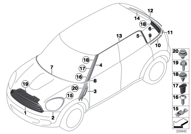 MINI R60/Countryman/One/ECE/Vehicle Trim/Cover, Interior