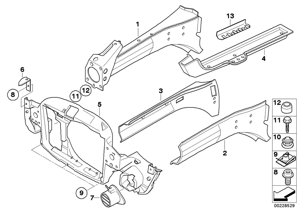 MINI R53/Coupe/Cooper S/USA/Bodywork/Front Body Bracket