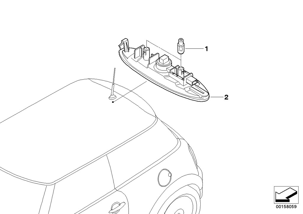 MINI R56 LCI/Coupe/Cooper/USA/Lighting/Overhead Interior