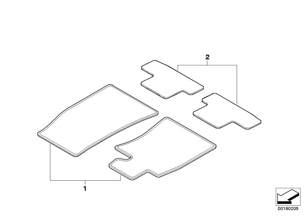 MINI R55/Clubman/Cooper D/ECE/Vehicle Trim/Mounting Parts