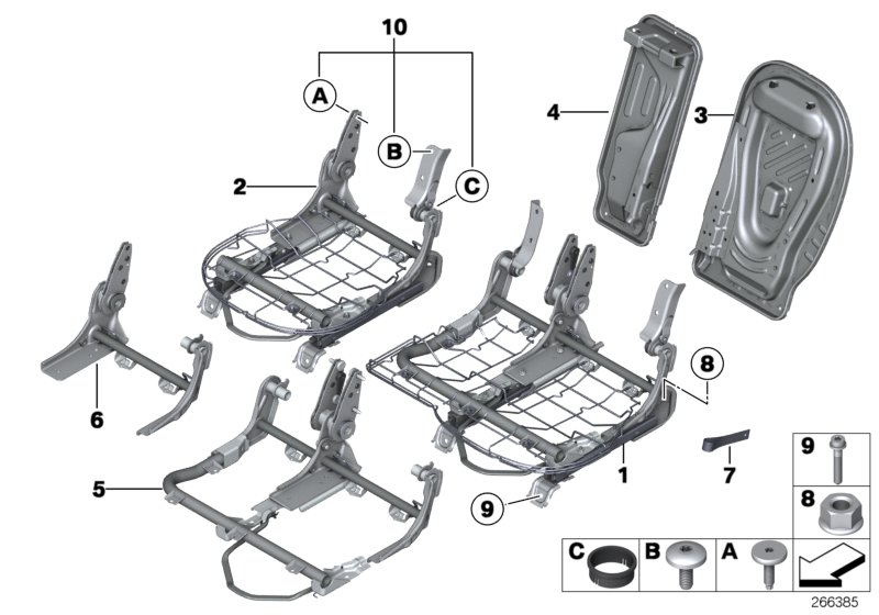 Parts For MINI R60/Countryman/Cooper S/ECE/Seats/Seat