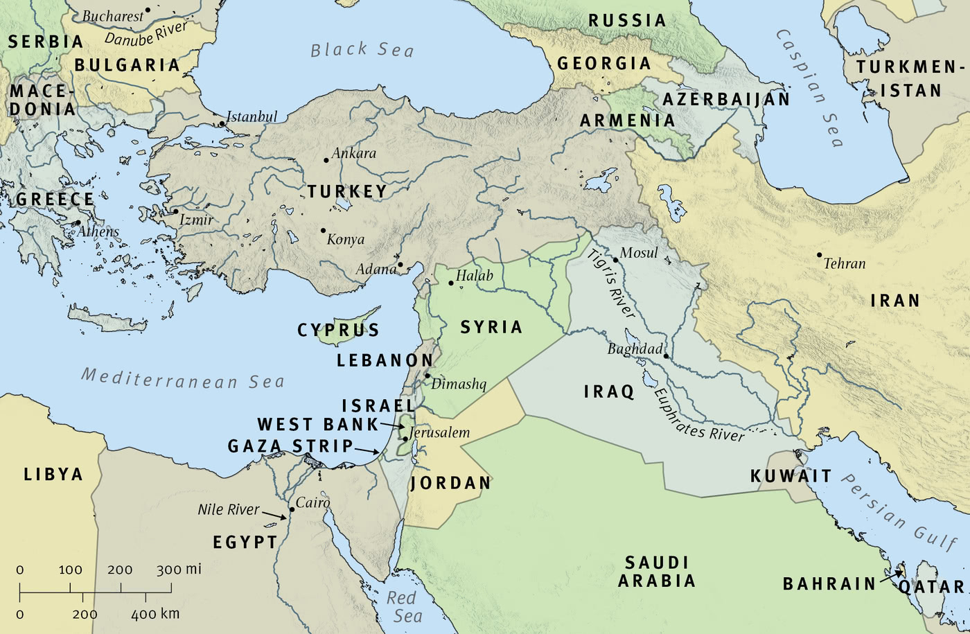Map 1: The Middle East Today