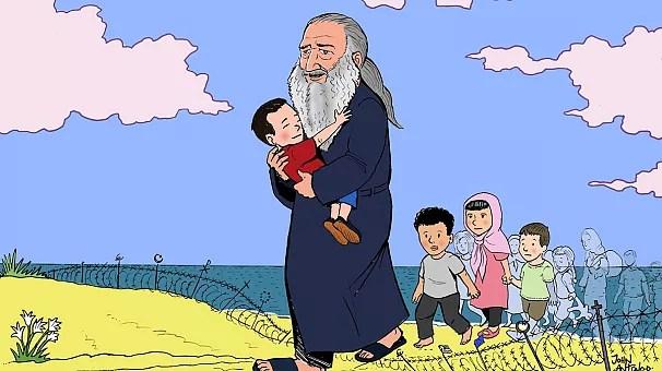 Le dessinateur grec Yannis Antonopoulos rend hommage au petit Aylan